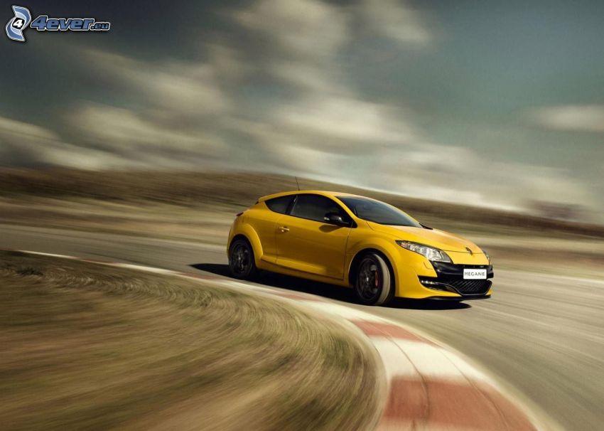 Renault Mégane, velocità, curva, circuito da corsa