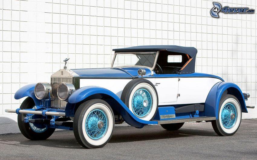 Rolls Royce, veicolo d'epoca, muro
