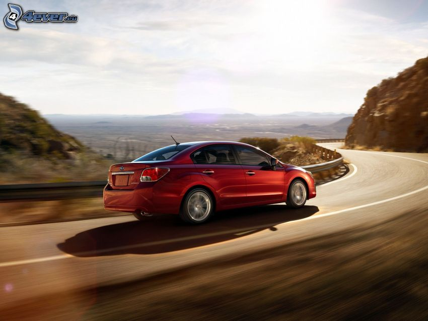 Subaru Impreza, strada, curva