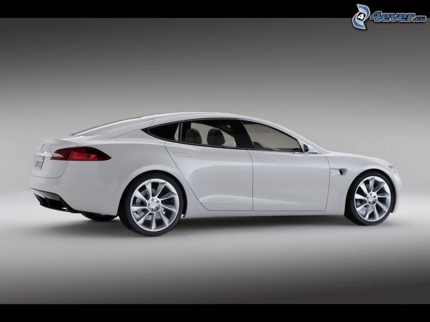Tesla Model S, concetto, auto elettrica, cerchioni