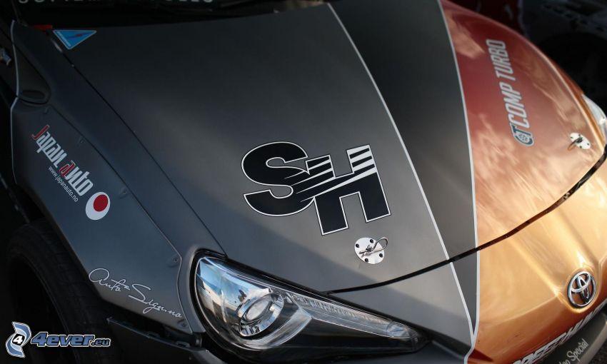 Toyota, cofano, riflettore