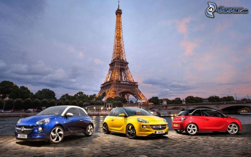 vauxhall, Parigi, Francia, Torre Eiffel, piastrelle, HDR