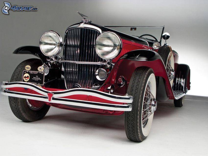 veicolo d'epoca, griglia anteriore, cabriolet