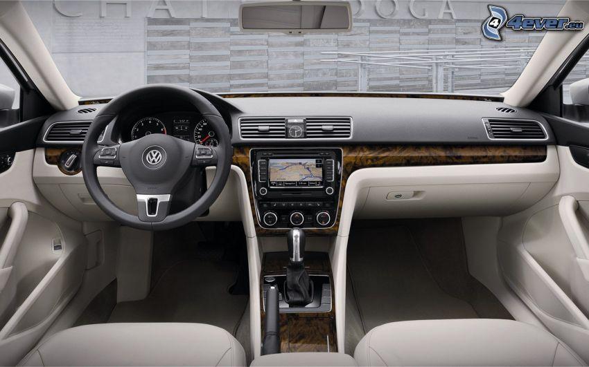 Volkswagen Passat, interno, volante