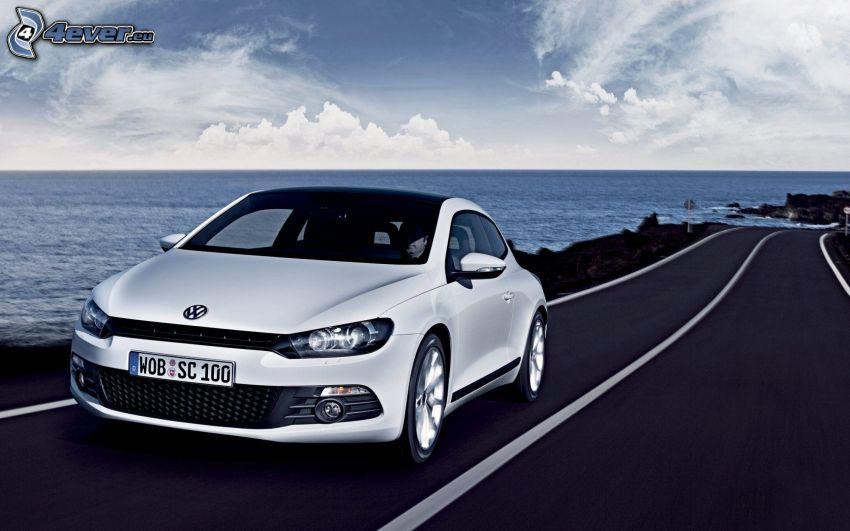 Volkswagen Scirocco, strada, mare