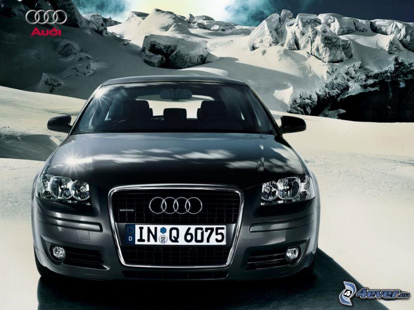 Audi A3, neve, montagne