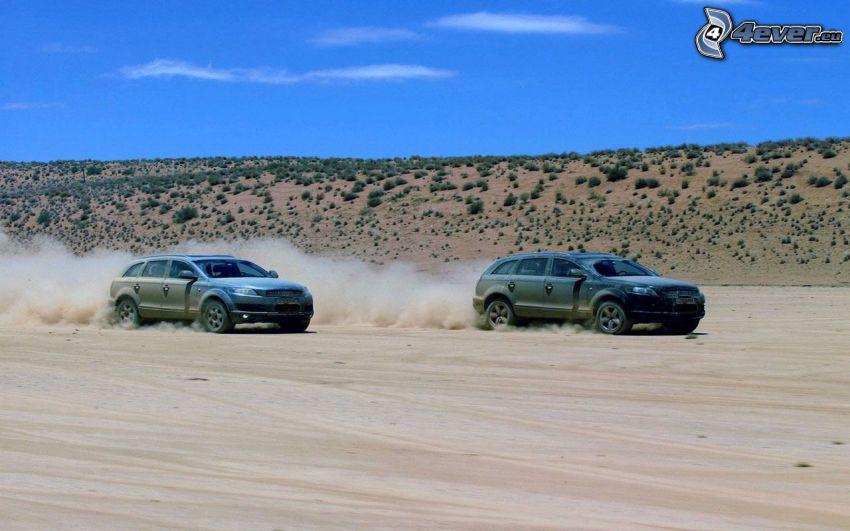 Audi Q7, deserto