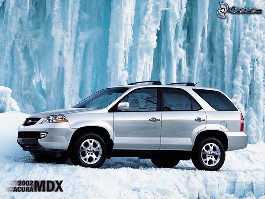 auto, SUV, Acura, MDX, ghiaccio, Ruote
