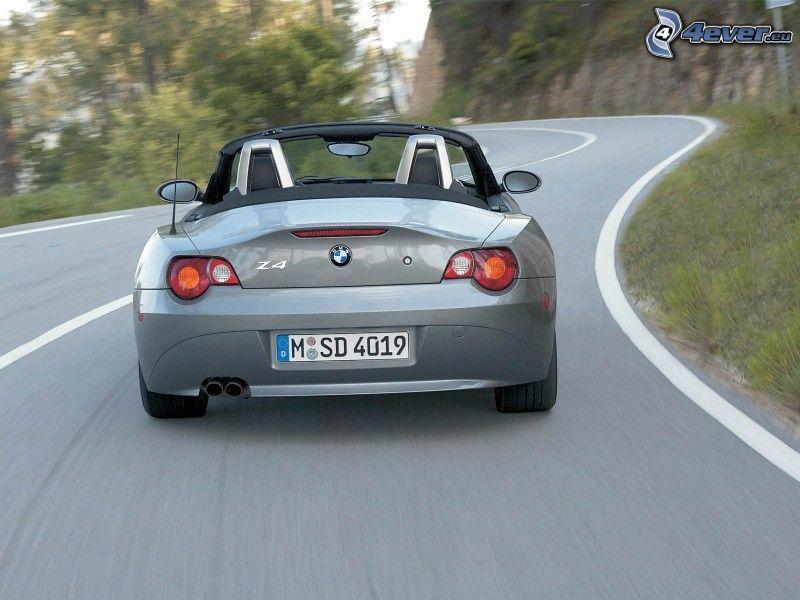 BMW Z4, cabriolet, strada, curva