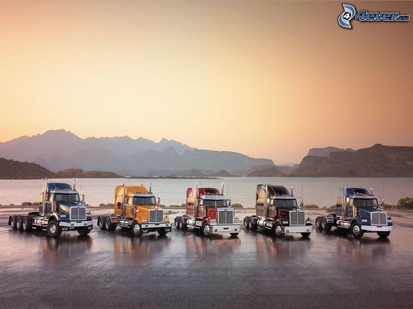camion, montagna