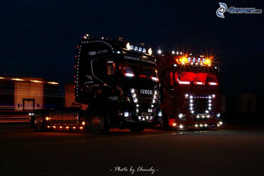 Iveco Stralis, camion, illuminazione, tuning