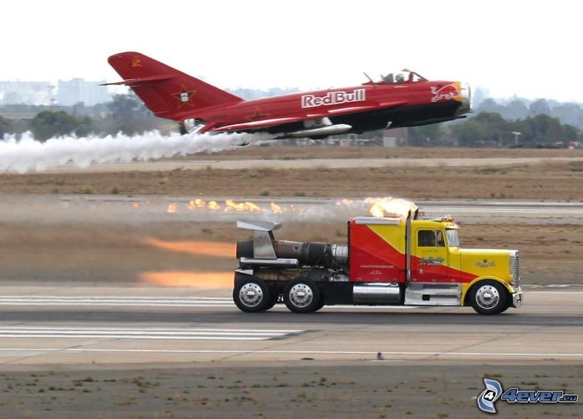 trattore stradale, aereo, gara