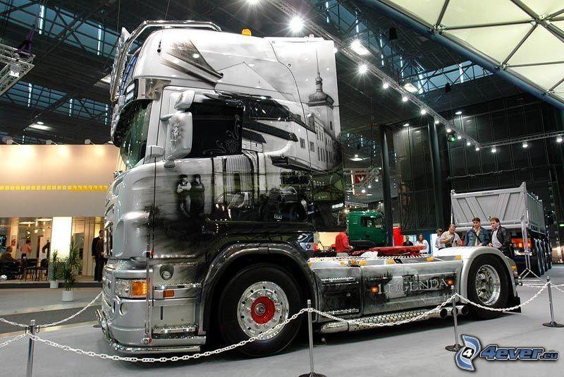 trattore stradale, camion, salone dell'automobile