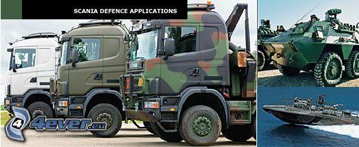 trattore stradale, tecnica militare