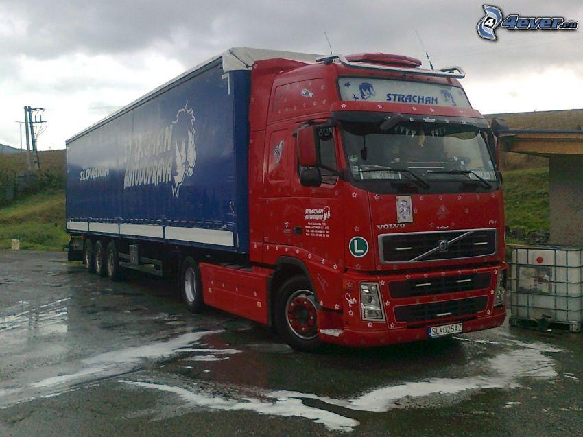 Volvo, camion, Strachan