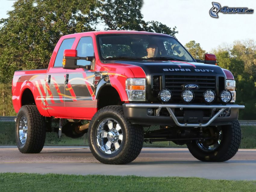 Ford, pickup truck, auto off road