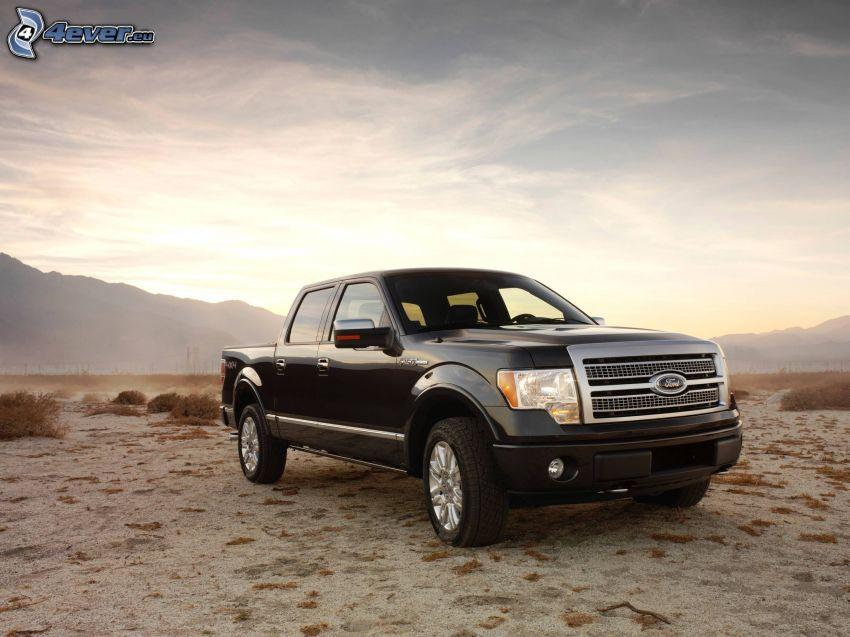 Ford F150 raptor, pickup truck, deserto