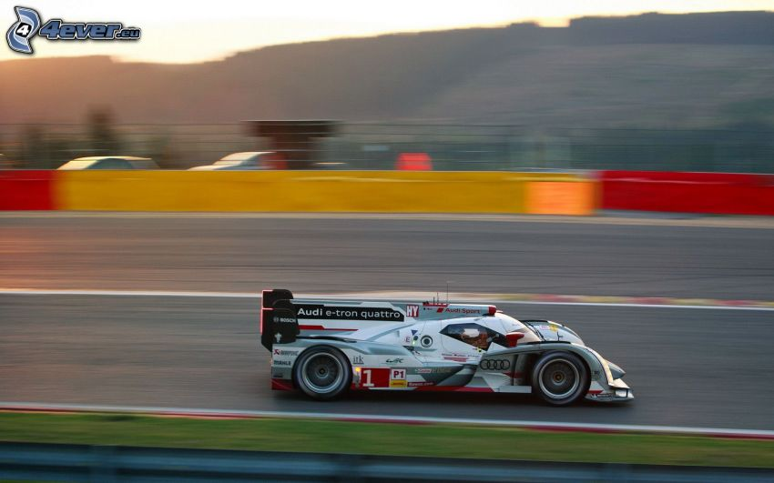 Audi, auto da corsa, velocità, circuito da corsa