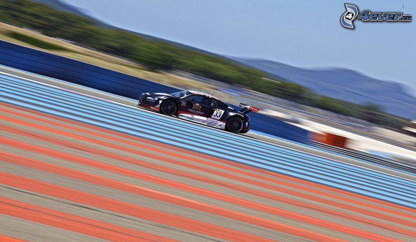 Audi R8, auto da corsa, velocità