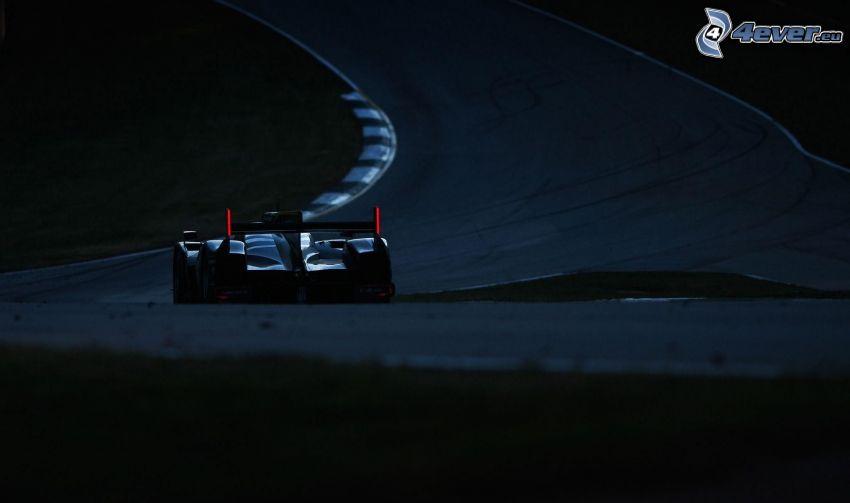 auto da corsa, notte, circuito da corsa