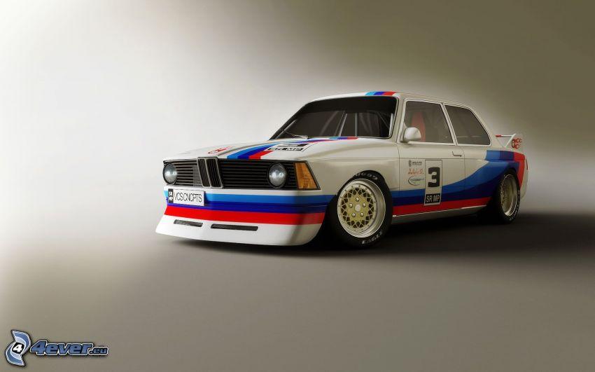 BMW E21, veicolo d'epoca, auto da corsa