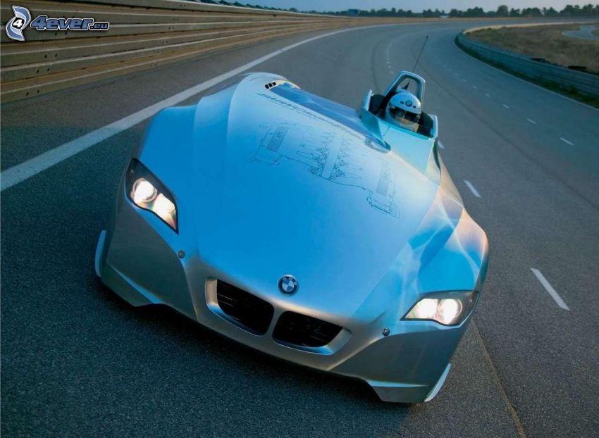BMW H2R, corridore, circuito da corsa