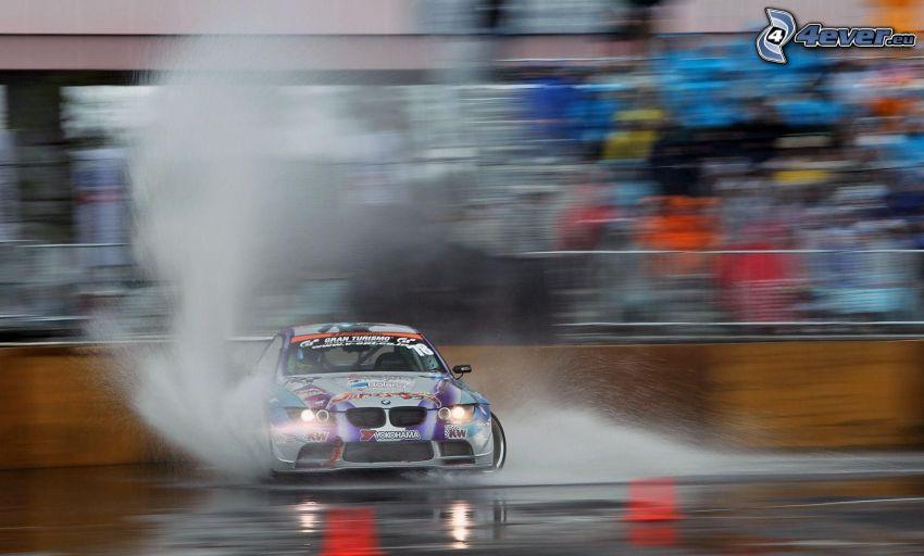 BMW S1000RR, drifting, acqua