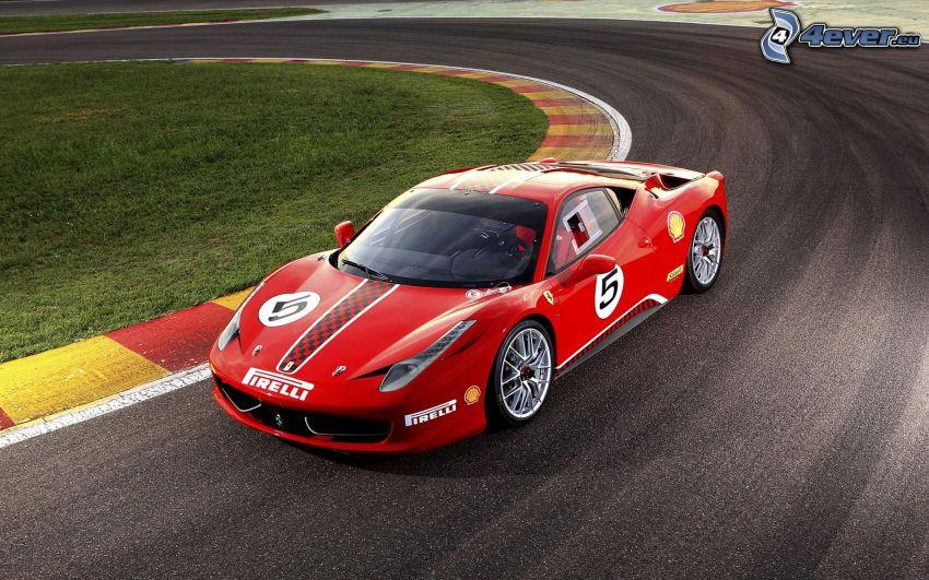 Ferrari 458 Challenge, auto sportive, circuito da corsa