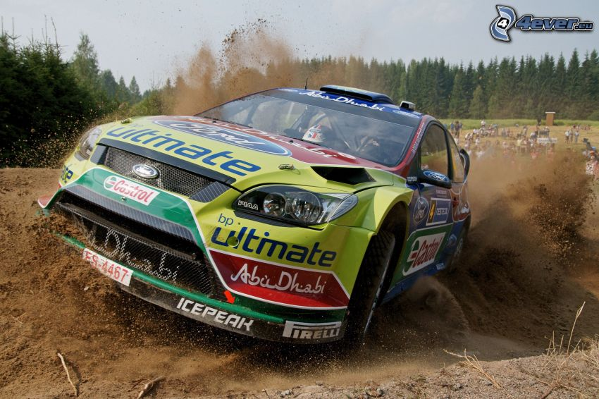 Ford Focus, drifting, rally