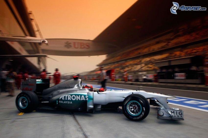 Formula 1, circuito da corsa, tribuna