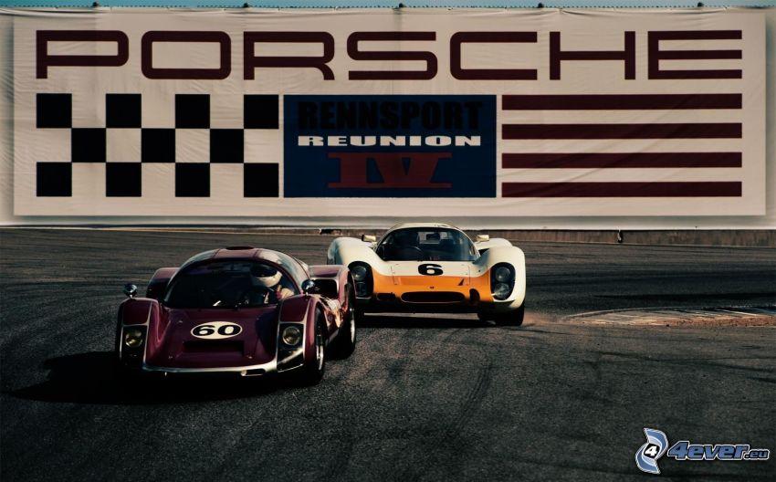 gara, auto da corsa, Porsche, veterani