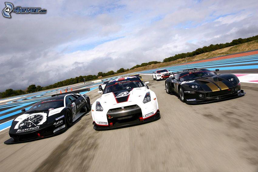 gara, auto sportive, velocità
