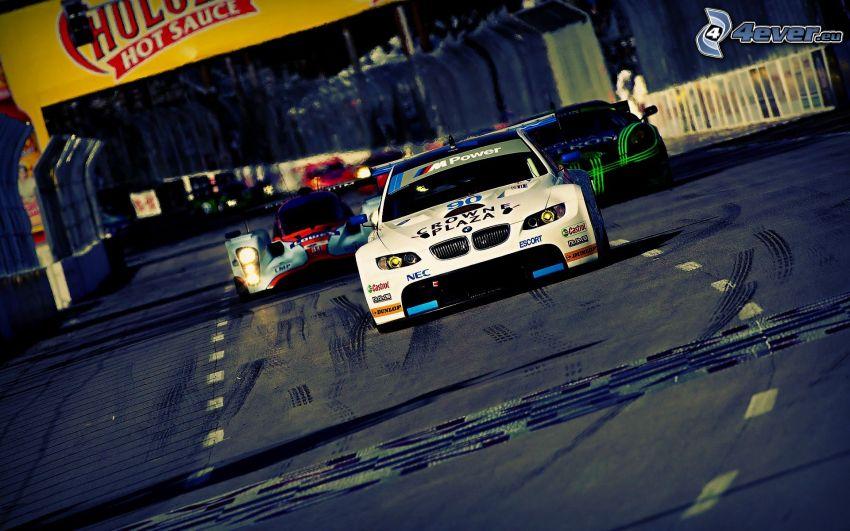 gara, BMW, auto da corsa