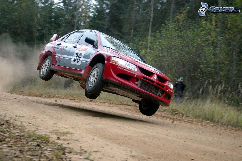 Mitsubishi Lancer, polvere, rally