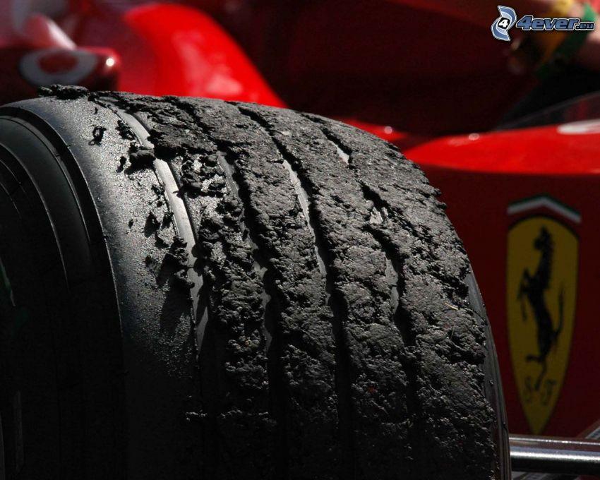 pneumatici, Ferrari F1