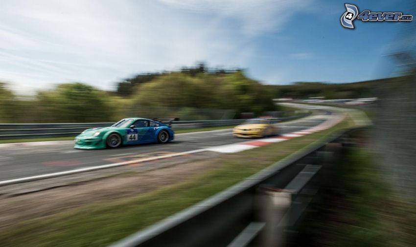 Porsche GT3R, gara, velocità, circuito da corsa