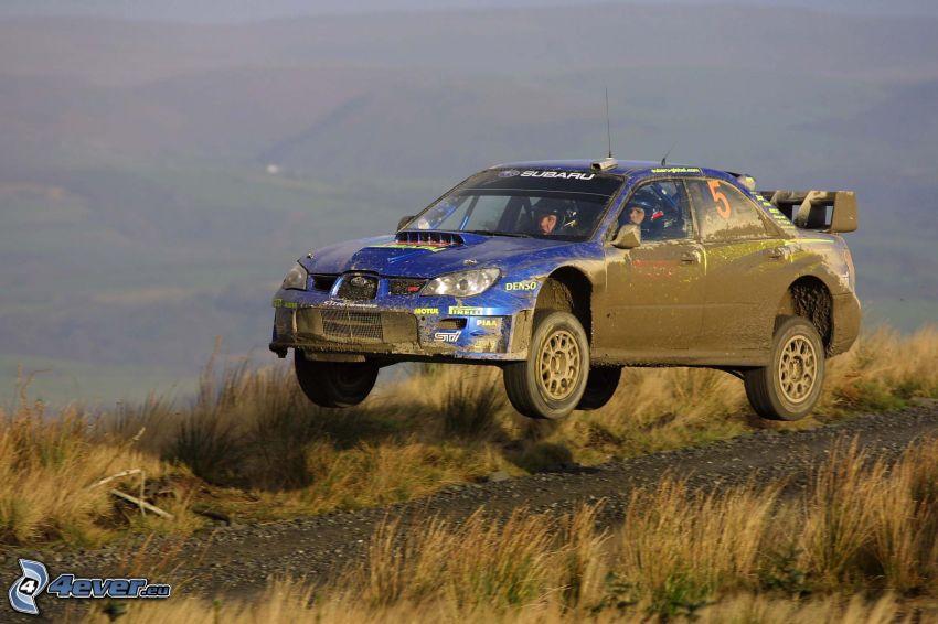 Subaru, rally, salto