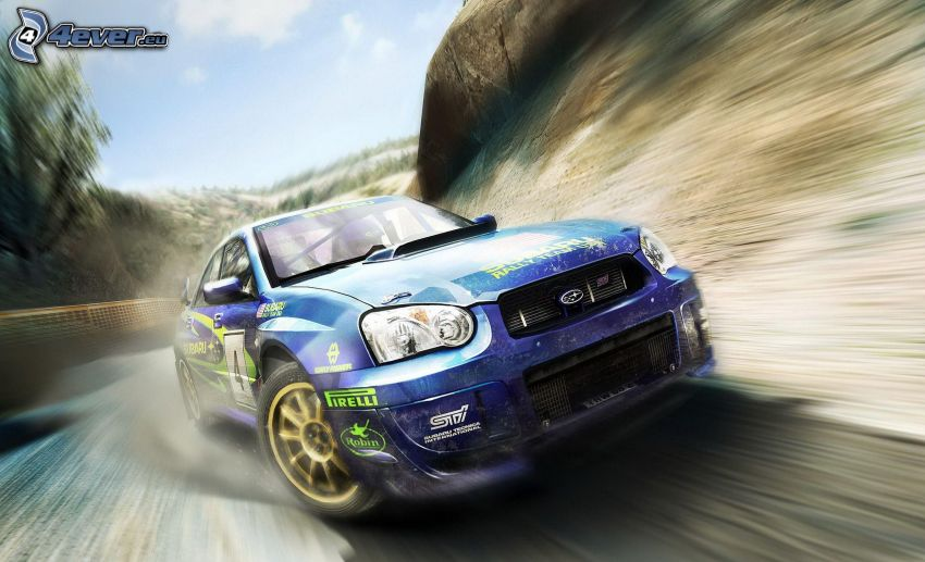 Subaru Impreza, velocità, curva