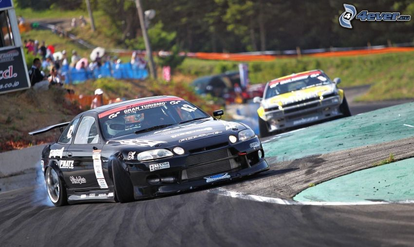 Toyota Soarer, gara, circuito da corsa, drifting