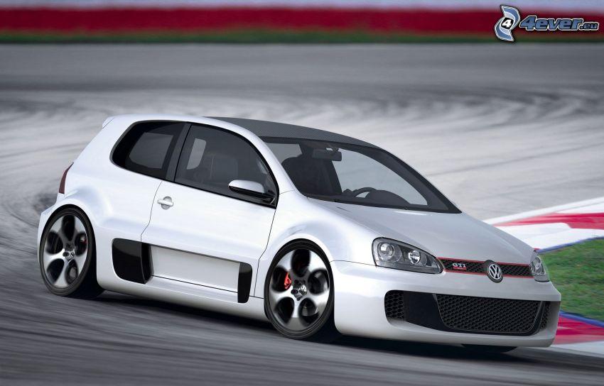 Volkswagen Golf GTI W12, circuito da corsa