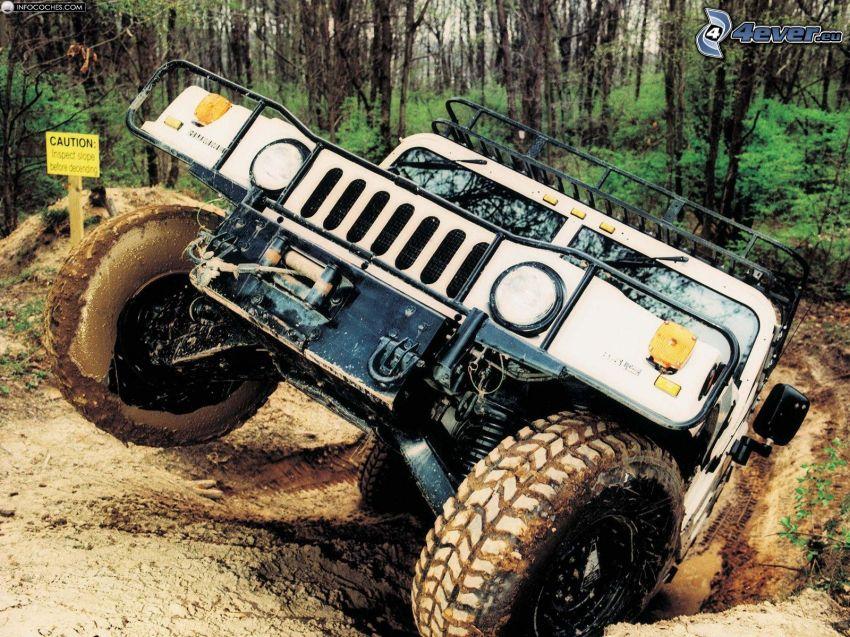 Hummer H1, auto terrano, terreno