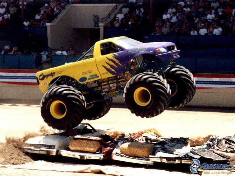 monster truck, salto