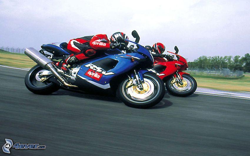 Aprilia RSV4, motociclista, gara, velocità