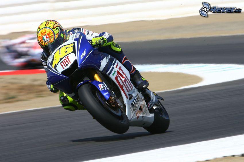Fiat, motociclista, gara, velocità, curva, circuito da corsa