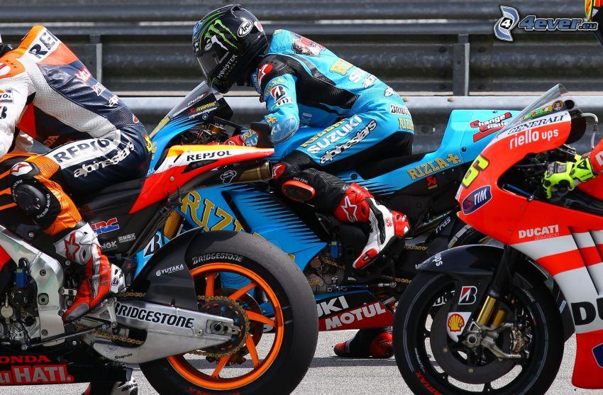 gareggiatori, moto