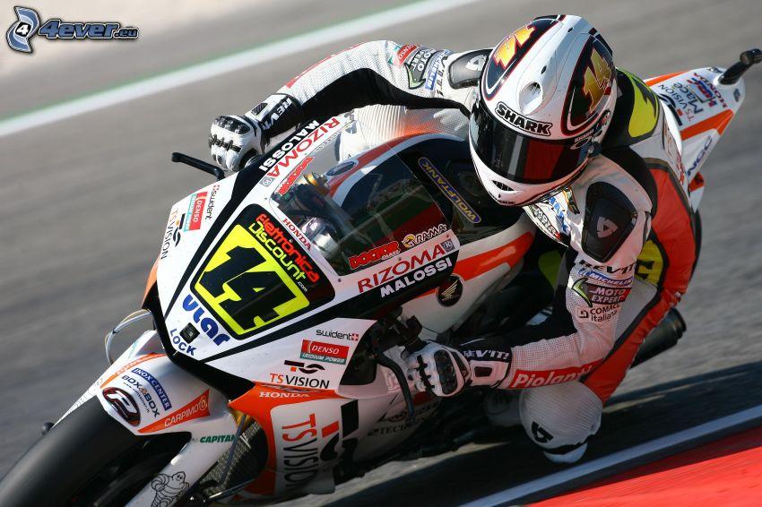 Honda, motocicletta, motociclista, gara, velocità
