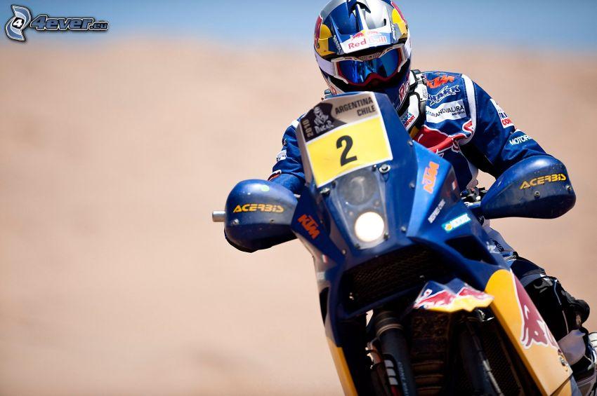 KTM, motociclista, gara