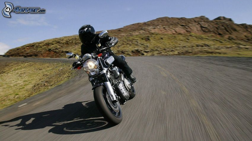 motociclista, velocità
