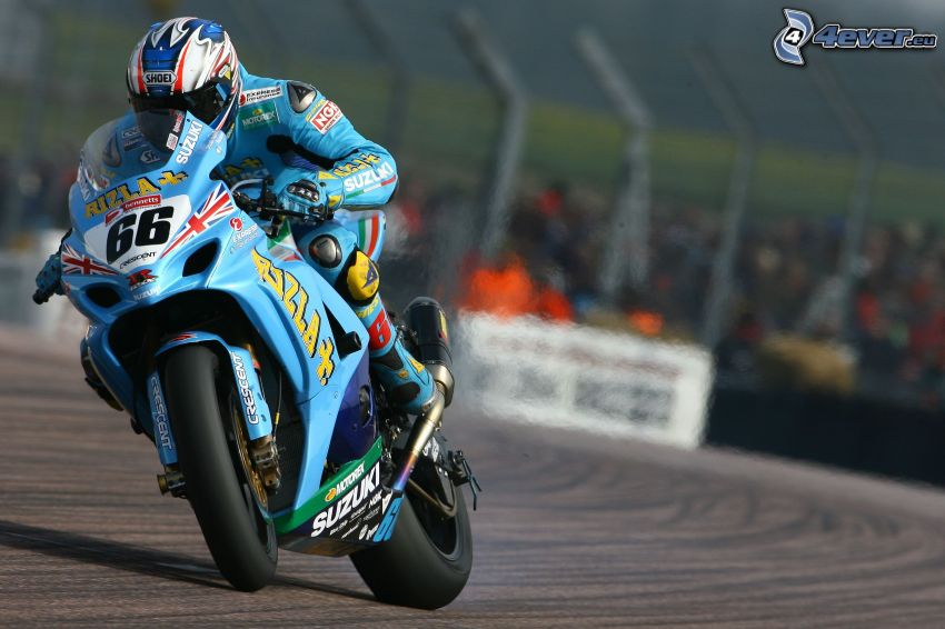 Suzuki, motociclista, gara, velocità