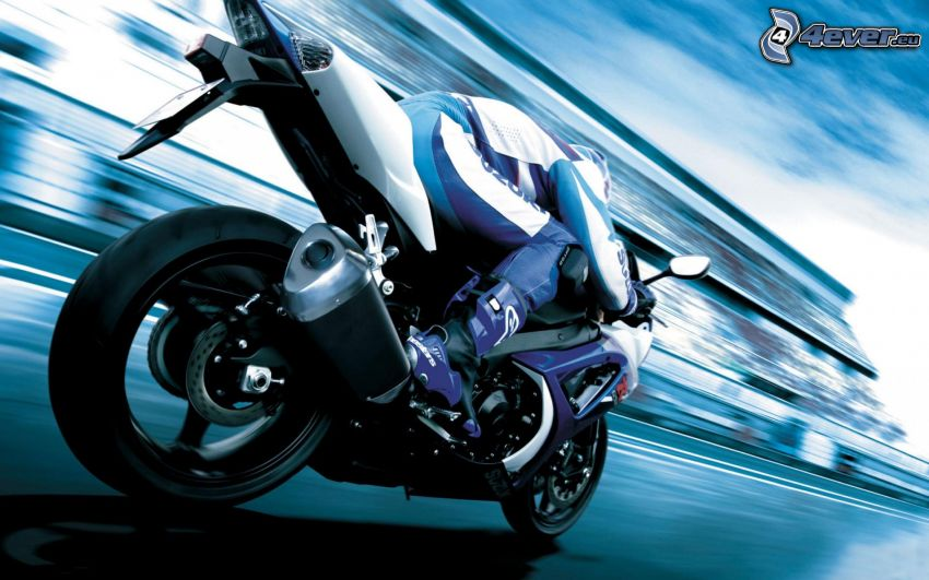 Suzuki GSX-R, motociclista, velocità